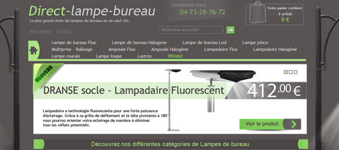 Direct lampe bureau