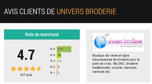 Avis client - Univers Broderie