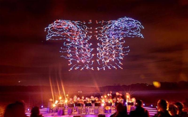 Fireworks drones