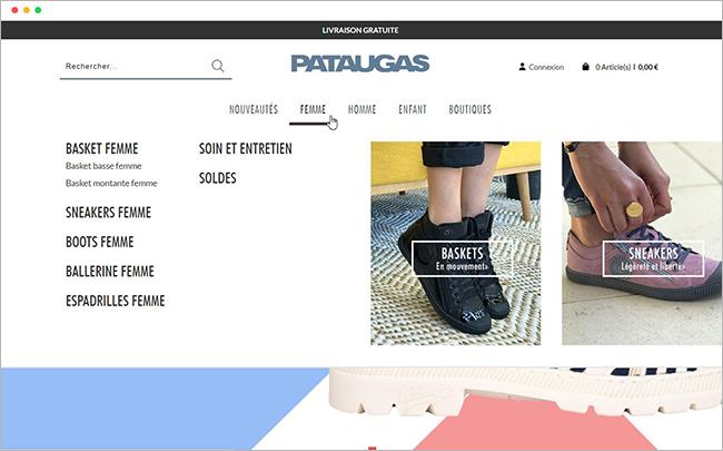 Pataugas_menu